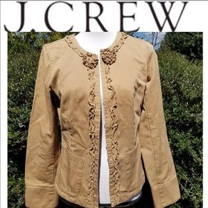 J crew weathered &broken-in chino floral jacket 4